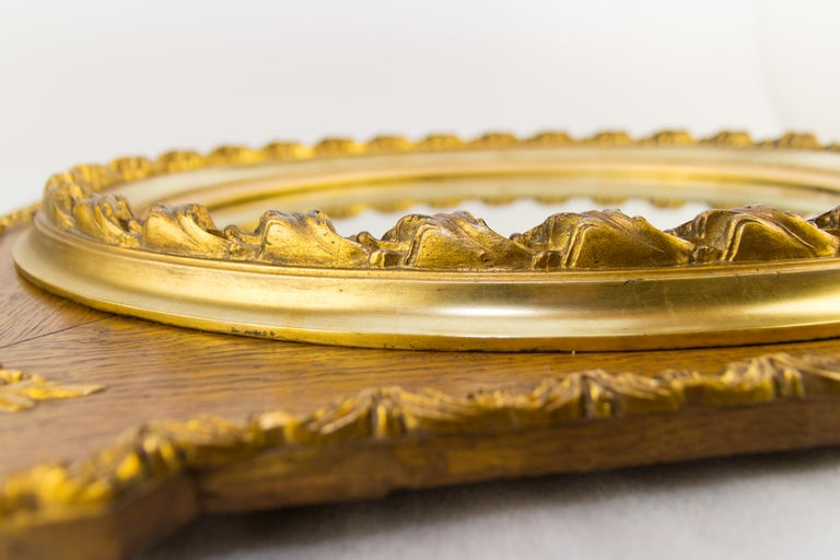 French Louis XVI Style Parcel-Gilt Mirror Frame in Oak For Sale 9