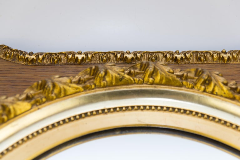 French Louis XVI Style Parcel-Gilt Mirror Frame in Oak For Sale 2