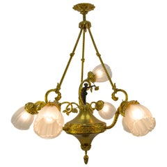 French Louis XVI Style Seven-Light Chandelier