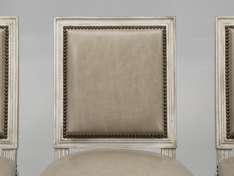 French Louis XVI Style Side Chair Handmade in France and Available in the Flat For Sale 3