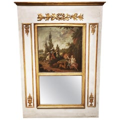 French Louis XVI Style Trumeau Mirror