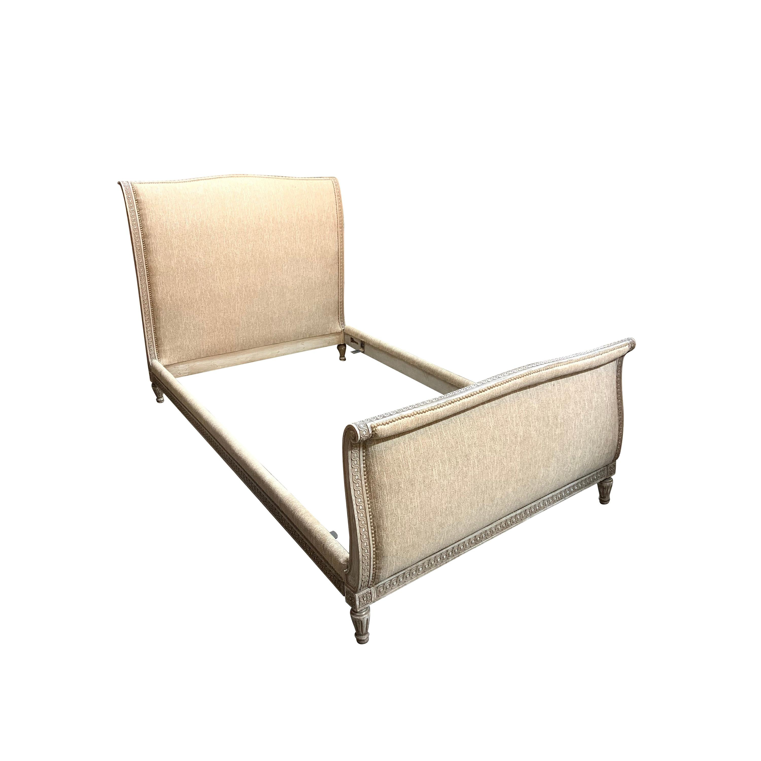 French Louis XVI Style Upholstered Bed