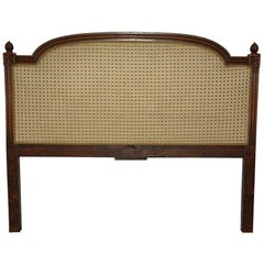 French Louis XVI Style Upholstered Queen Size Bed Headboard