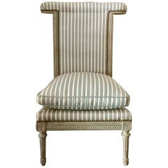 French Louis XVI Style Voyelle/Ponteuse Chair, French Riviera Private Collection
