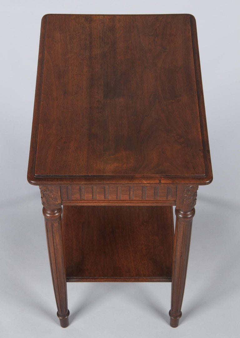 French Louis XVI Style Walnut Side Table, Early 1900s For Sale 6