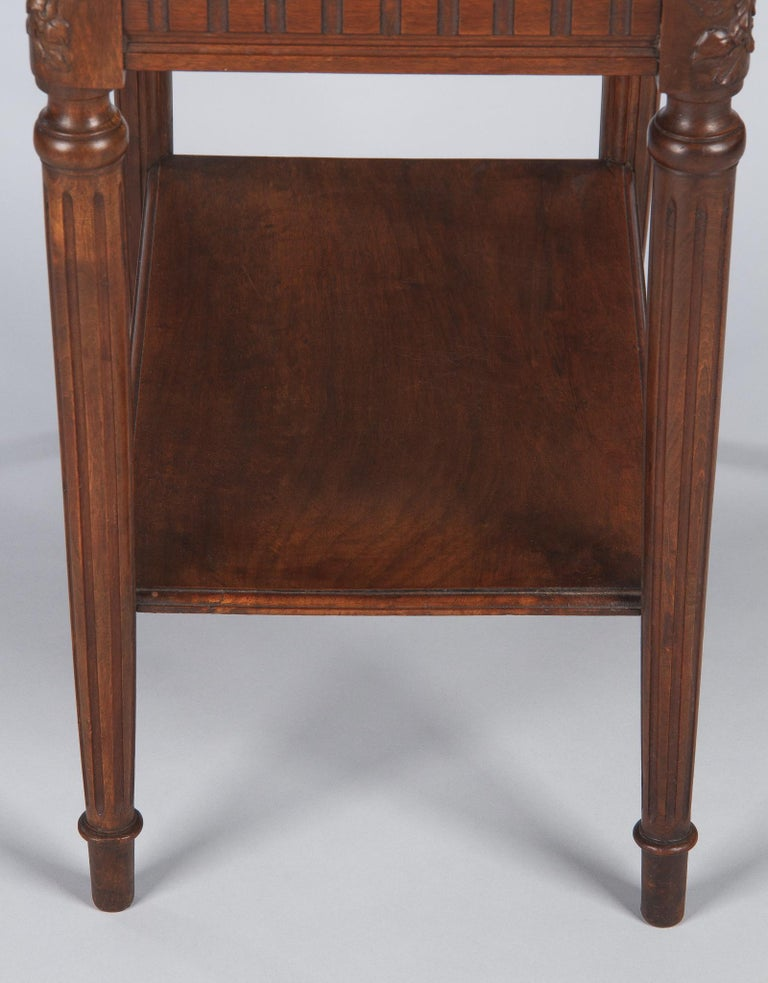 French Louis XVI Style Walnut Side Table, Early 1900s For Sale 7