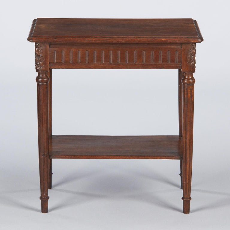 French Louis XVI Style Walnut Side Table, Early 1900s For Sale 8