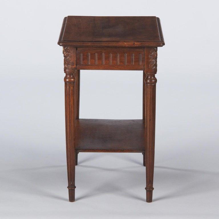 French Louis XVI Style Walnut Side Table, Early 1900s For Sale 12