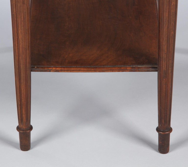 French Louis XVI Style Walnut Side Table, Early 1900s For Sale 13