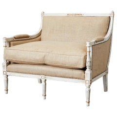 French Louis XVI Swedish Gustavian Style Marquis Bergère