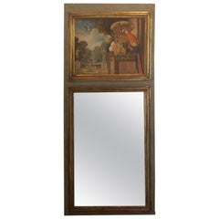 French Louis XVI Trumeau Mirror