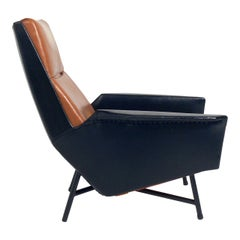 French Lounge Chair Attributed to Pierre Guariche