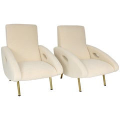 French Lounge Chairs by Francois Letourneur and Edited by Maurice Mourra, Paris