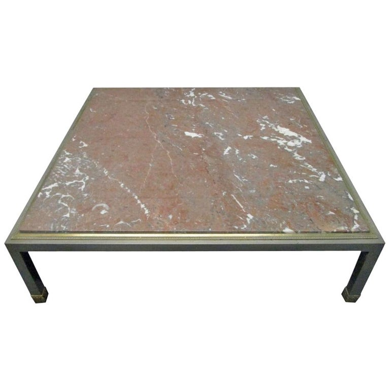 French Low Marble Top Coffee Table For Sale At 1stdibs