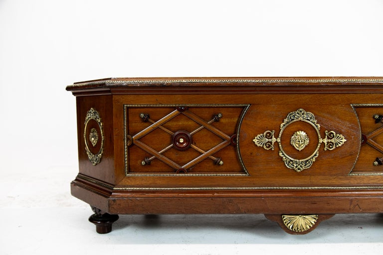 Hand-Carved French Low Wall Jardinière For Sale