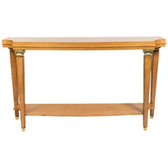 French Lucien Rollin Style Sycamore Console Table - Made to Order