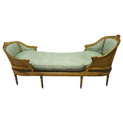 French Luxurious Chaise Longue, circa Mid-18th Century, Louis XIV Style