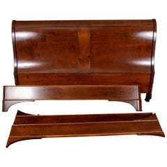 French Made Mahogany King Sleigh Bedstead
