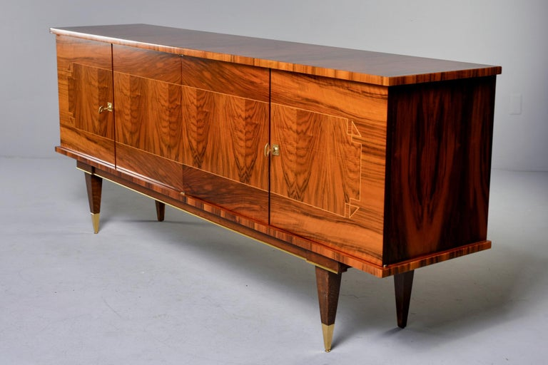 French Mahogany Art Deco Buffet Sideboard or Credenza 5