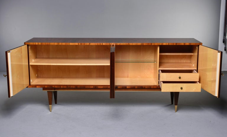 20th Century French Mahogany Art Deco Buffet Sideboard or Credenza