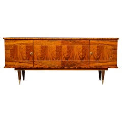 French Mahogany Art Deco Buffet Sideboard or Credenza