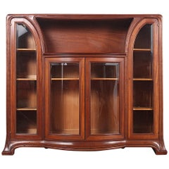 French Mahogany Art Nouveau Cabinet from Paris