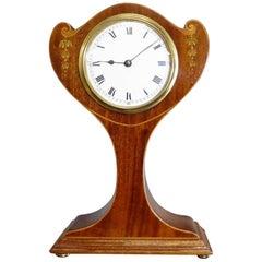 French Mahogany Balloon Mantel Clock