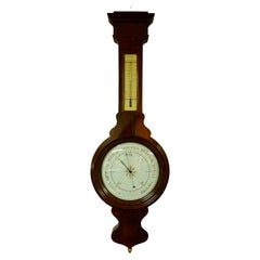 """French Mahogany Barometer with Thermometer by """"L'Ingenieur Chevallier"""""""