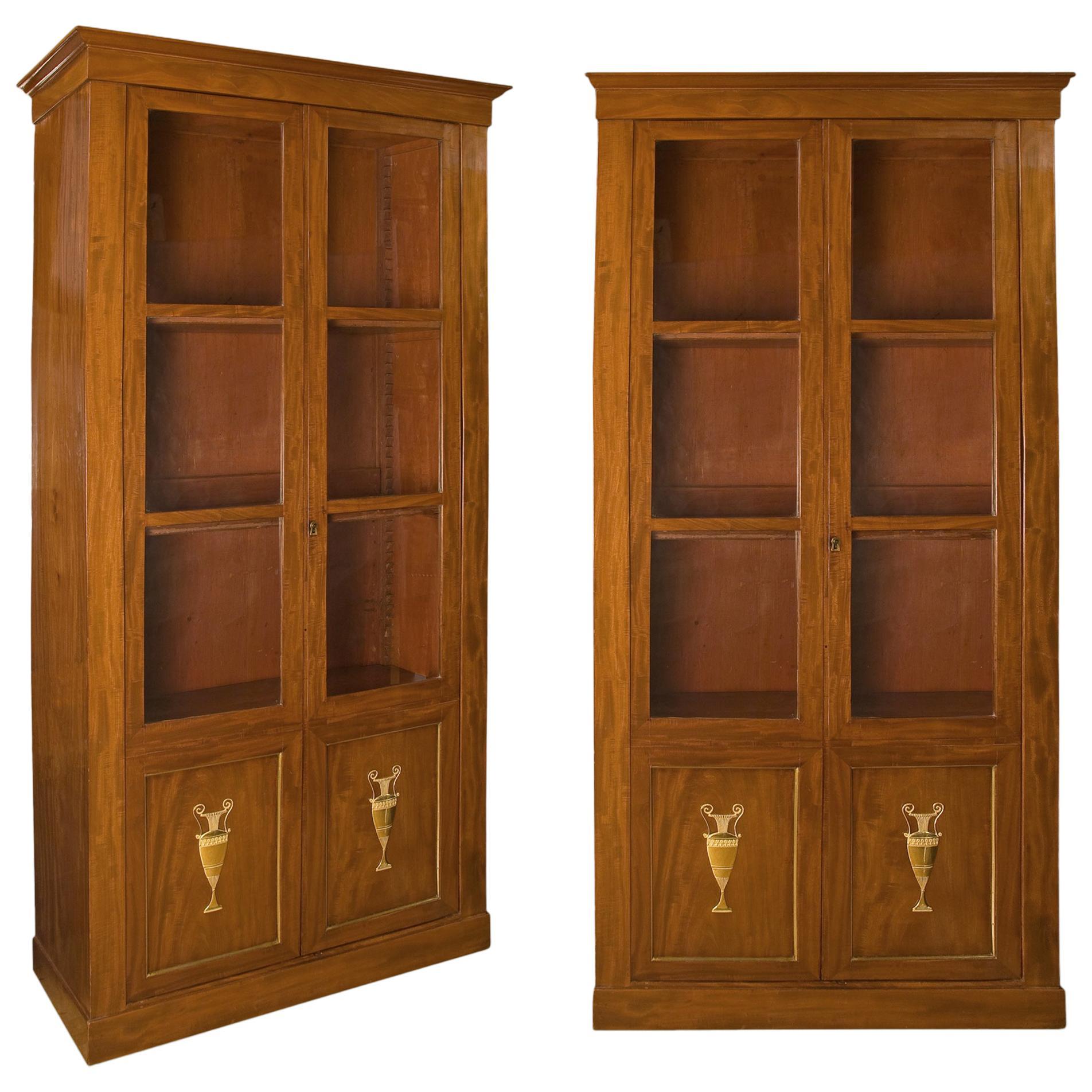 French Mahogany Bookcases, circa 1800