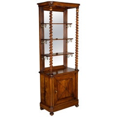 French Mahogany Cabinet with Shelves