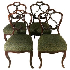 "Biedermeir chairs (set 4 pcs.) Danish mahogany with ""Needle Point"" Seat"