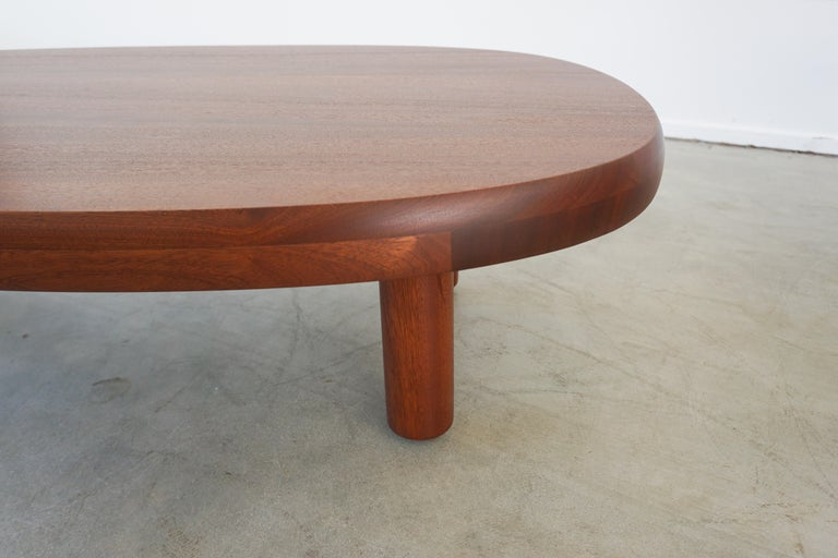 Contemporary French Mahogany Coffee Table For Sale
