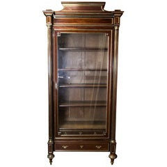 French Mahogany Display Cabinet or Bookcase