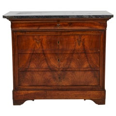 French Mahogany Dresser with Stone Top