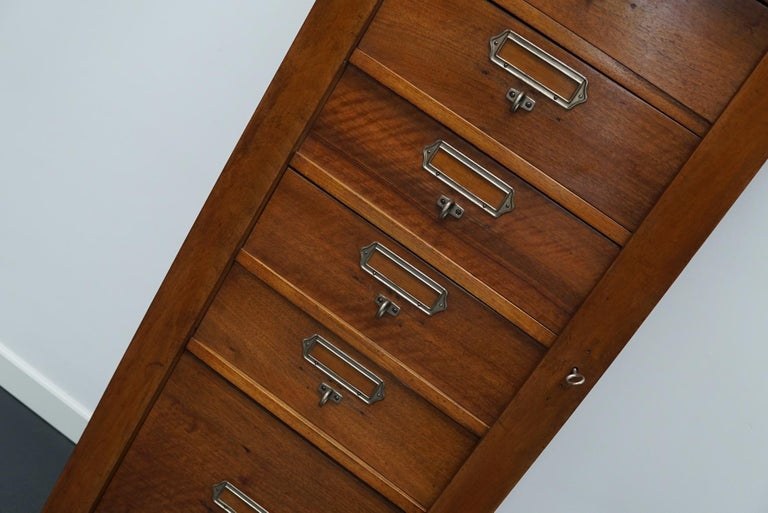 French Mahogany Filing Cabinet or Bank of Drawers, 1930s For Sale 7