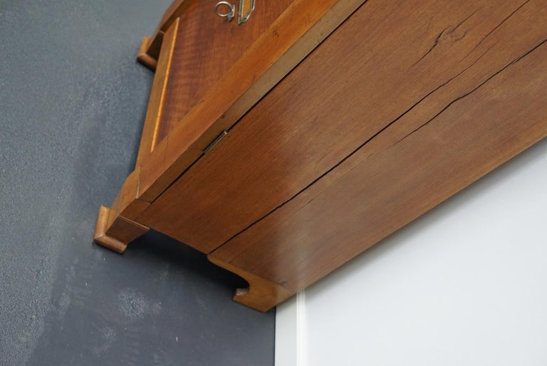 French Mahogany Filing Cabinet or Bank of Drawers, 1930s For Sale 9
