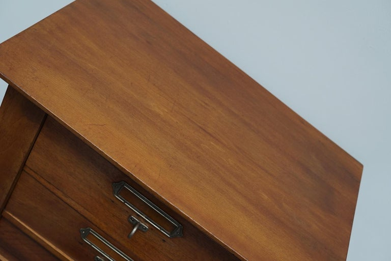 French Mahogany Filing Cabinet or Bank of Drawers, 1930s For Sale 14