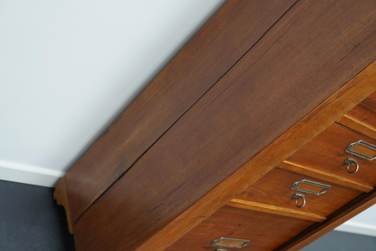 Mid-20th Century French Mahogany Filing Cabinet or Bank of Drawers, 1930s For Sale