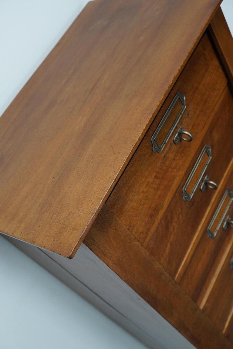 French Mahogany Filing Cabinet or Bank of Drawers, 1930s For Sale 2