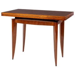 French Mahogany Flip-Top Console