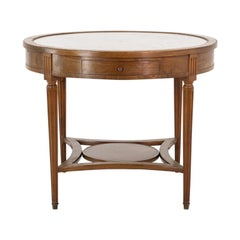 French Mahogany Guéridon with Marble Top
