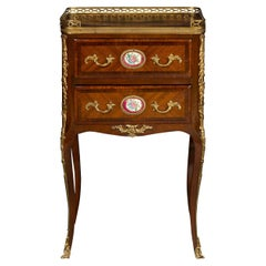French Mahogany Inlaid Table with Drawers