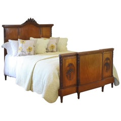 French Mahogany King Size Antique Bed WK144