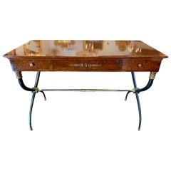 French Mahogany Midcentury Directoire Style Writing Desk
