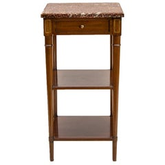 French Mahogany Three-Tiered Shelf or Stand