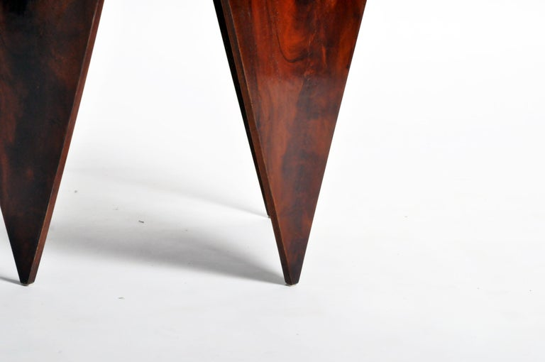 French Mahogany Veneer Side Table in the Style of Jorge Zalszupin For Sale 9
