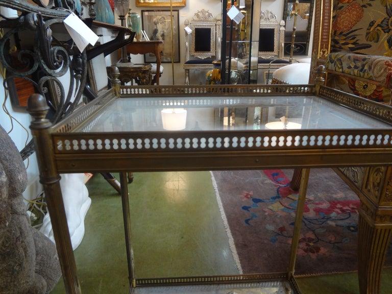 Louis XVI French Maison Baguès Attributed Bronze Gueridon For Sale