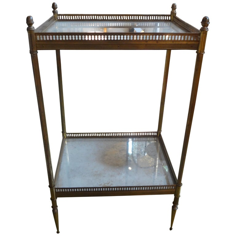 French Maison Baguès Attributed Bronze Gueridon For Sale