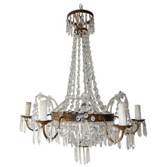 French Maison Baguès Crystal Prisms Chandelier