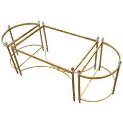 French Maison Jansen / Baguès Brass and Glass Three Pieces Coffee Table, 1950s